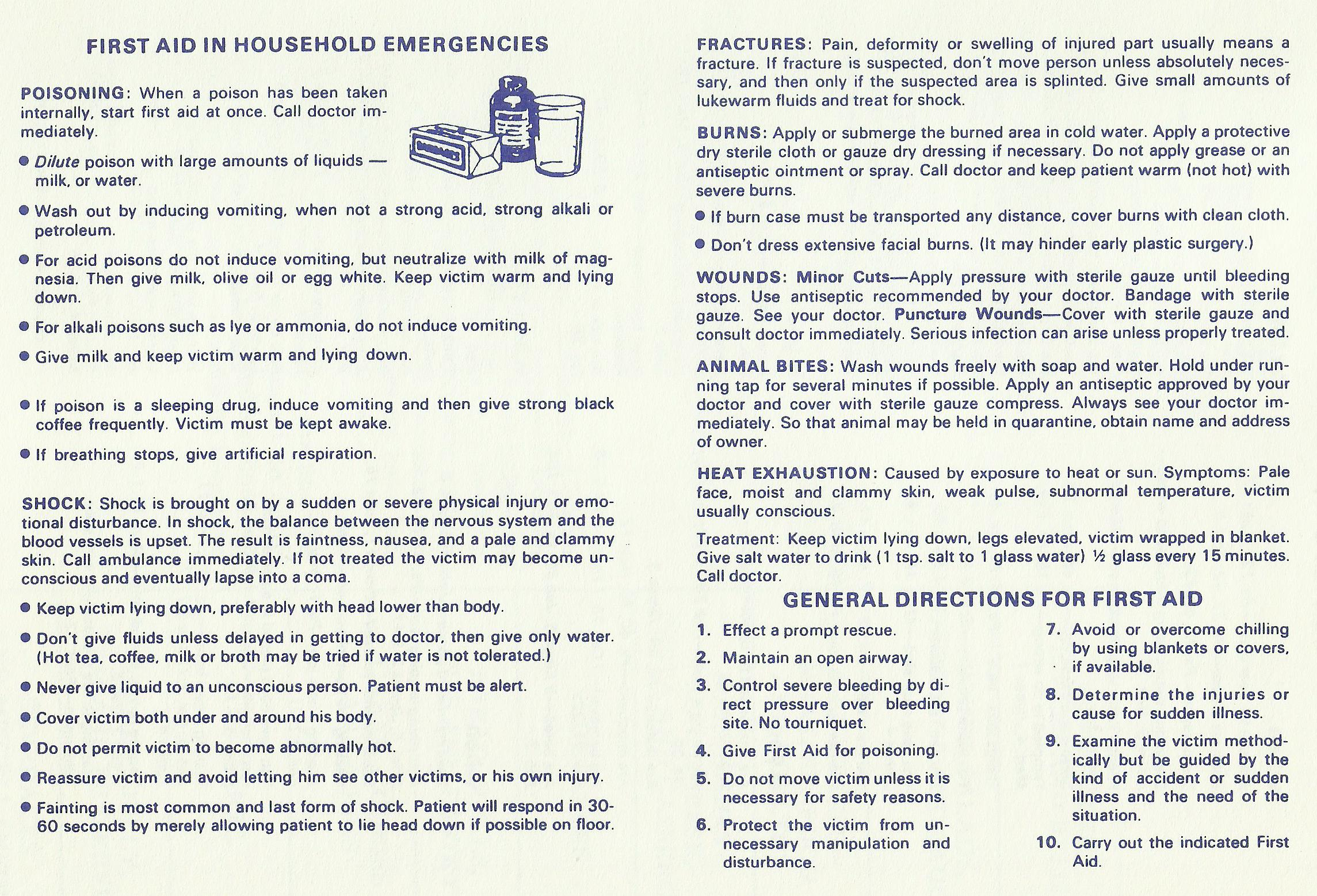 First Aid in Household Emergencies
