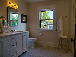 1910 Craftsman Guest Bath Remodel painted by Posten Painting, Inc.