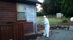 Applying Clear Coat to House