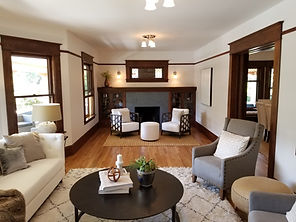 1910 Craftsman Living Room Remodel painted by Posten Painting, Inc.