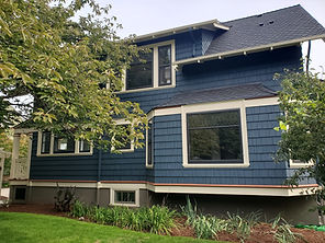 1910 Craftsman Exterior Back of House painted by Posten Painting, Inc.