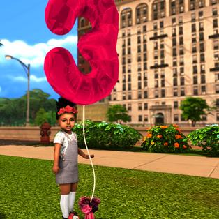 Ebonix | Birthday Number Balloons