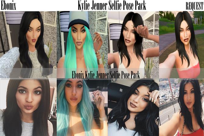 Ebonix | Kylie Jenner Selfie Pose Pack