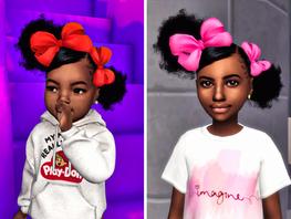 Ebonix | 🎀Lil Mimi & Lil Momo Side Sweep Puffs🎀
