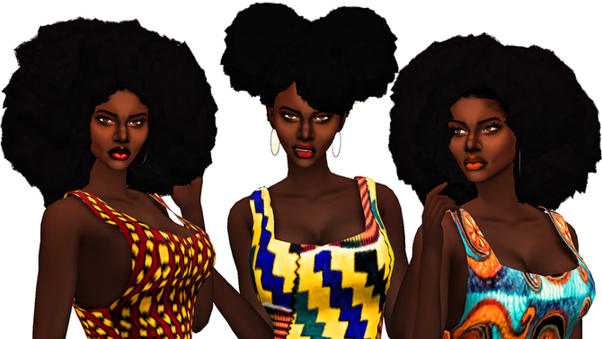 Ebonix | Glorianasims Mini Afro Pack