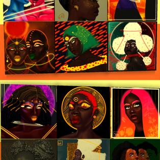 Ebonix  Huck Afrofuturistic Wall Art & Decor Pillows