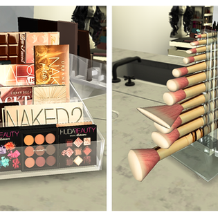 Ebonix   Eyeshadow Palette Holder and Makeup Brush Holder