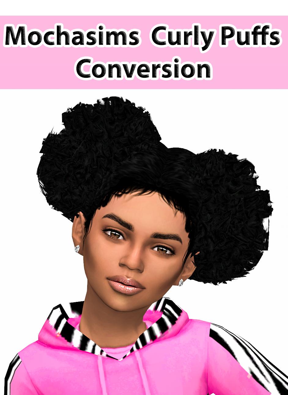 Ebonix  Mochasims Curly Puffs  Ebonixsims  Sims 4 Urban Cc-7728