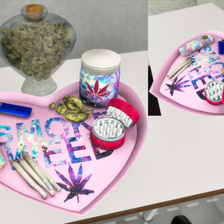 Ebonix | Kush Love Tray & Weed Jar