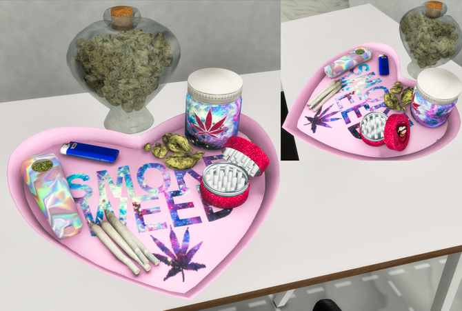 Ebonix | Kush Love Tray & Weed Jar
