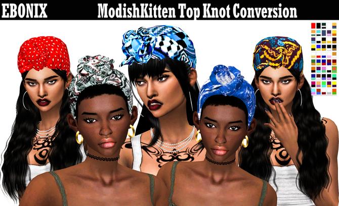 Ebonix | ModishKitten Top Knot
