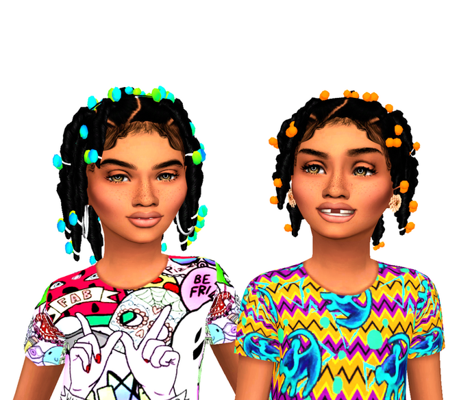 Ebonix | Sincerelyasimmer Twisted Pigtails Child Version