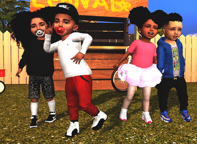 Ebonix | Chunkysims Toddler Sneaker Dump