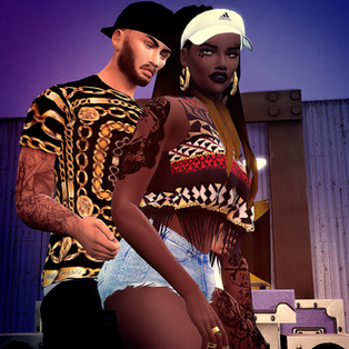 Ebonix | Couple Dance Pose Pack
