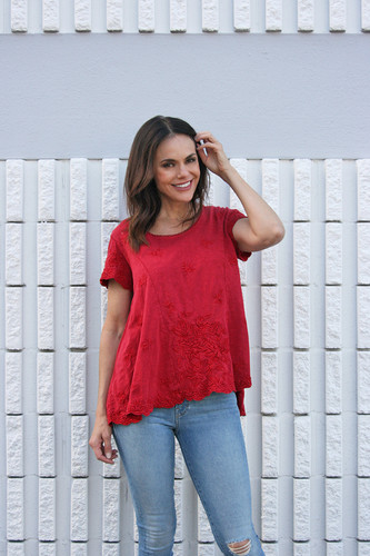 Caite Kahlea Top in Chili Pepper | Fall 2020