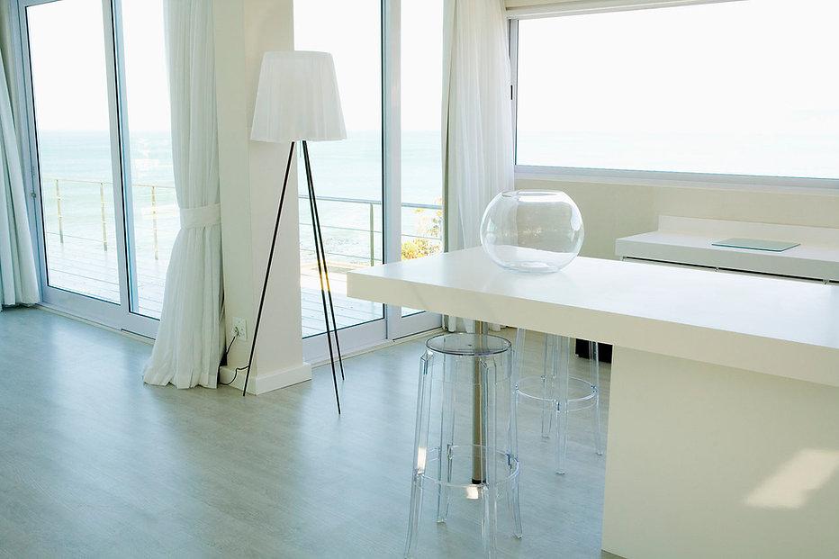White Kitchen with balcony