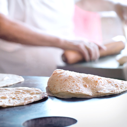 Tortillas in the making