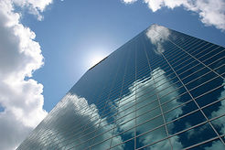A skyscraper which suggests possibilities