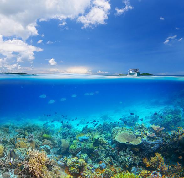 Image of ocean water and sky
