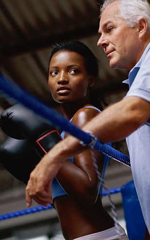 Boxer in Coner