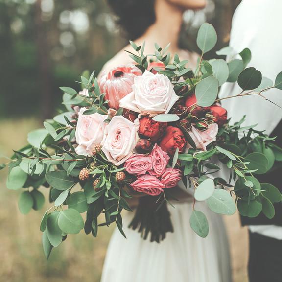 Wild bridal bouquet.