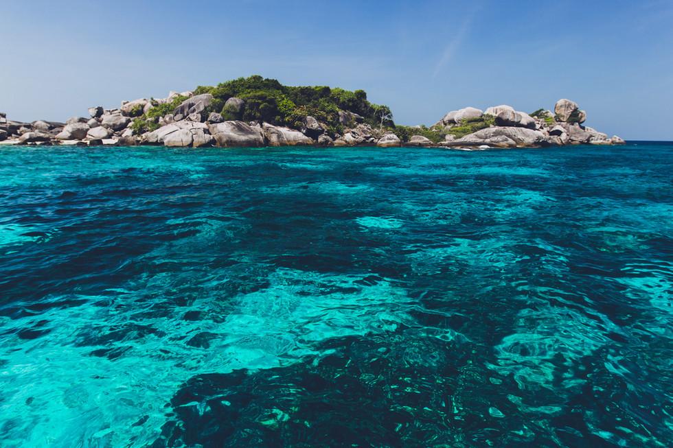 Ocean water and rocks