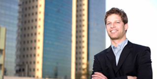 Success Businessman with Insight Solutions