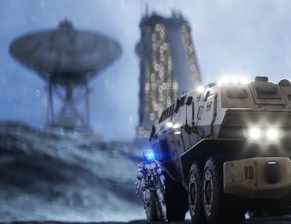 Gaming animation of tanks