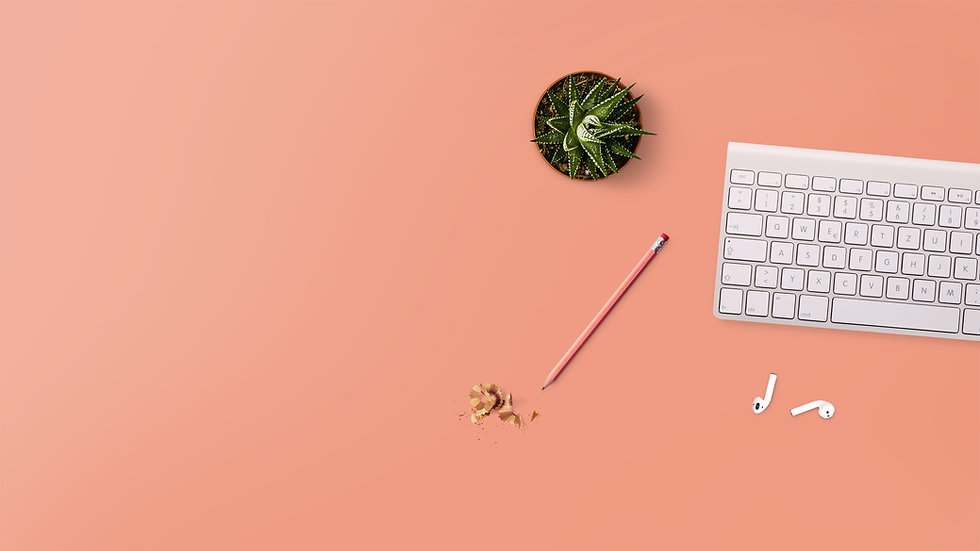 Succulent and keyboard