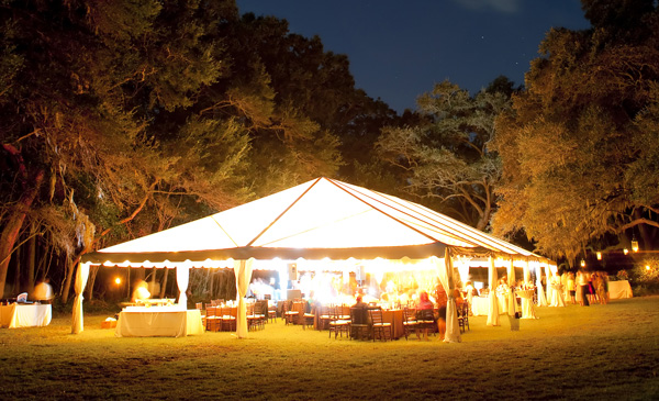 Wedding Tent with Lights