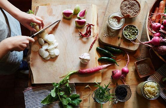 Schneiden von Gemüse