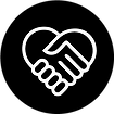 Volunteer Shaking Hands Symbol
