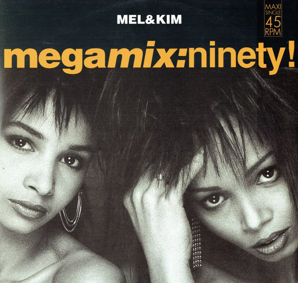 mel and kim, megamix ninety, 1990, front, cover