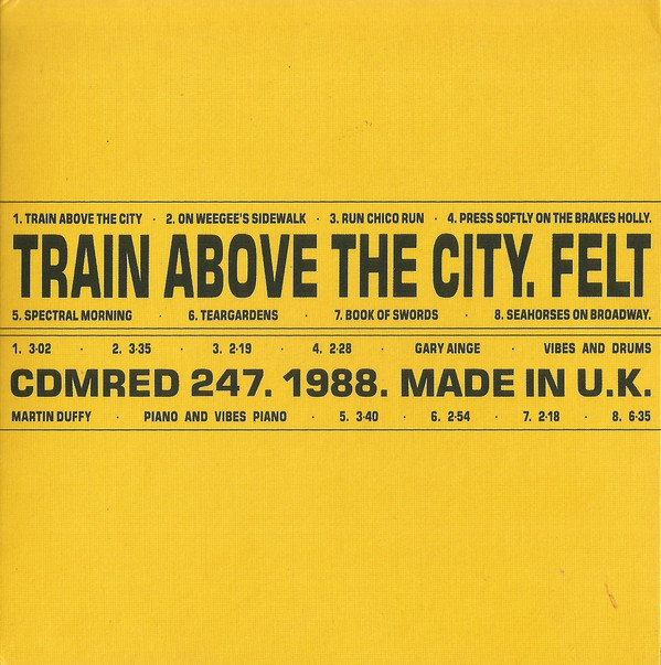 felt, train above the city, 1988