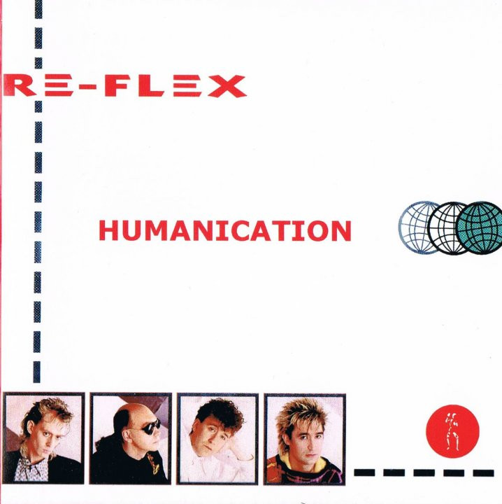 re-flex, humanication, 1985, front, cover