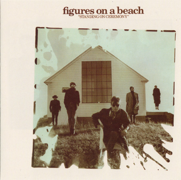 figures on a beach, standing on ceremony, 1987, front, cover