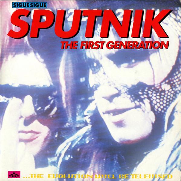 sigue sigue sputnik, the first generation, 1990, front, cover