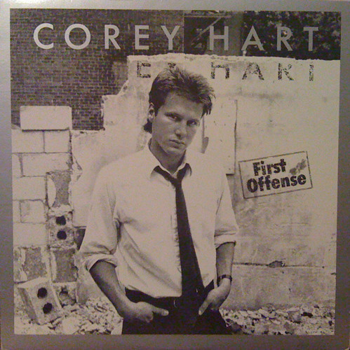 corey hart, first offense, 1983, front, cover