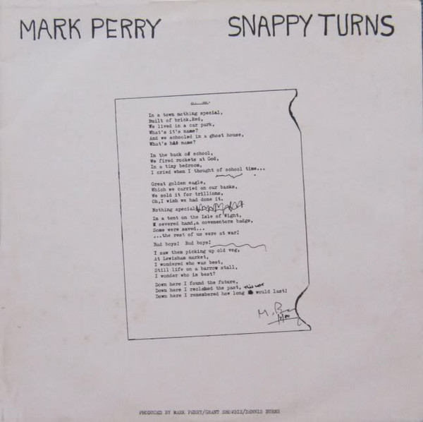 Mark Perry, Snappy Turns, 1980