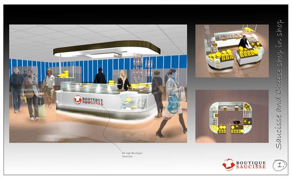 pak, projectrealisatie, alblasserdam, interieur, displays, stands, verpakking, boutique, saucisse