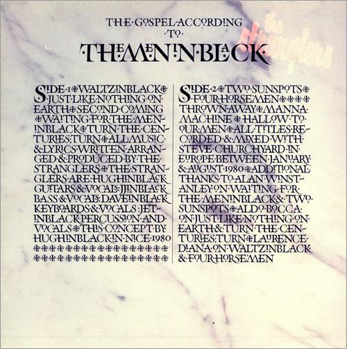 the Stranglers, the gospel according to the Meninblack, 1981