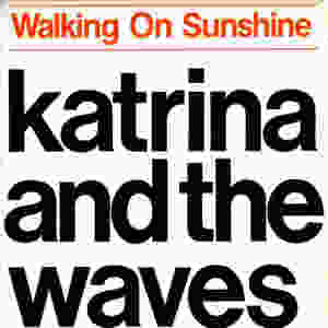 katrina and the waves, walking on sunshine, 1983, front, cover