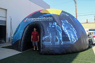 Eco Exploratorio - Custom Inflatable Dome with graphics