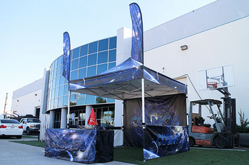 10x10 Custom pop up tent with company logo Cosmos