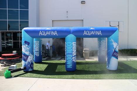10x20 Inflatable cooling misting tent Aquafina