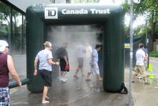10x10 Inflatable water cooling misting tent Canada Trust