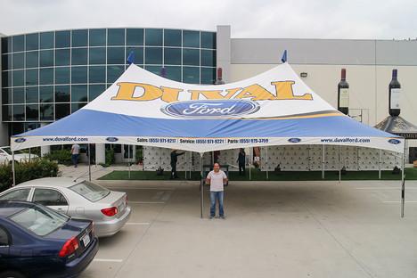 20x40 Custom high peak tent with company logo Duval Ford