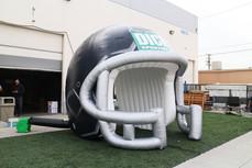 Inflatable football helmet tunnel entrance Dicks Sporting Good