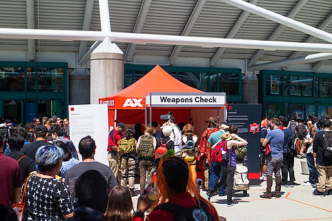 Check In Tent for Anime Expo