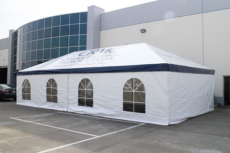20x40 large frame tent with walls